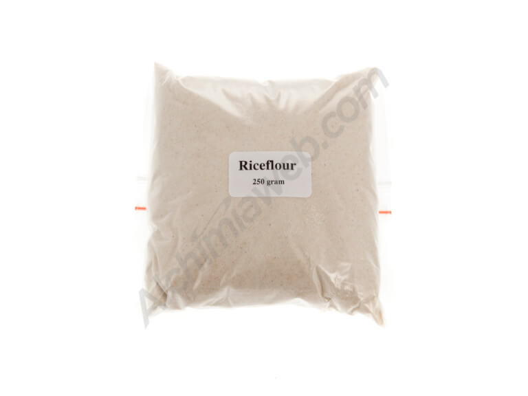 Brown rice flour for mushrooms cultivation