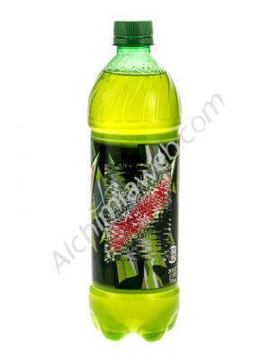 Soda bottle with concealed compartment