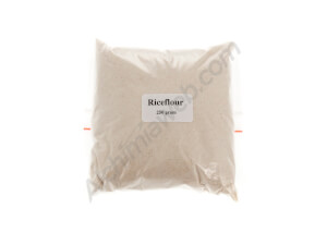 Brown rice flour for mushroom cultivation