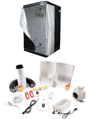 600w Adjust-A-Wing Kit + 120 Grow Tent