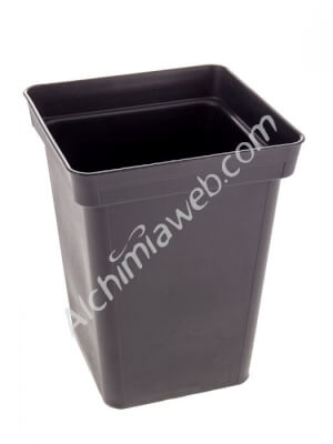 Square, 5L black pot