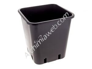 Square black plant pot - 22 x 22 x 26 cm - 11 L