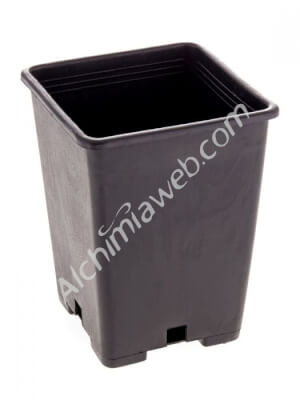 Square black plant pot- 13 x 13 x 18 cm -  2.5 L