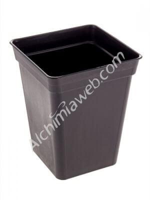 Square black plant pot - 15 x 15 x 18 cm - 3,25 L