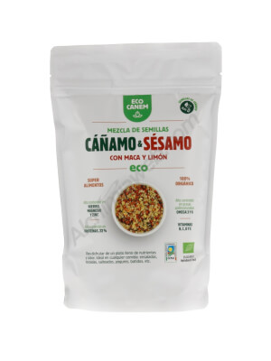 EcoCanem Organic Hemp and sesame seeds with maca and lemon