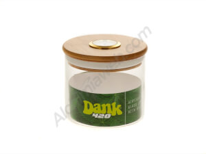 Dank 420 glass jar with hygrometer