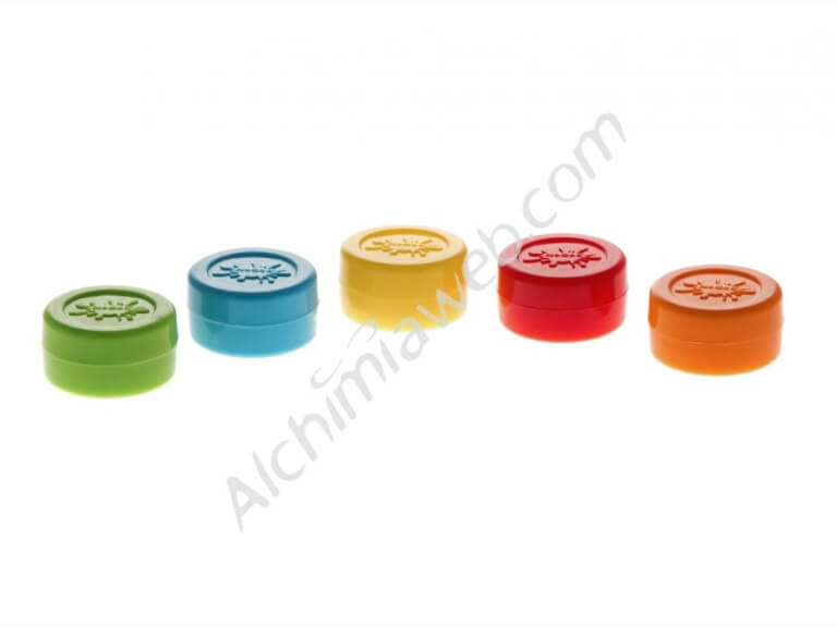 5 x  Silicone essence pots - assorted colours