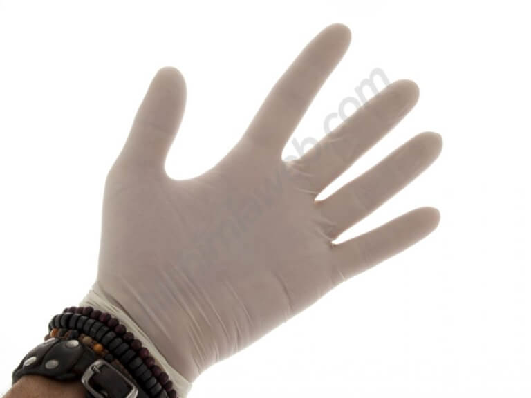 Sterilized latex gloves