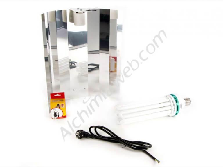 Vente de kit d 39 clairage basse consomation 200w floraison for Kit culture interieur