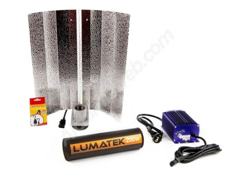 Vente de kit d 39 clairage lumatek standard 250w mixte for Kit culture interieur