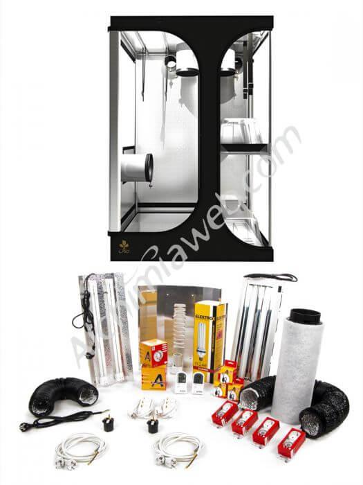 Vente de kit meres et clons 200 110 w 48w alchibox 100pl for Kit culture interieur