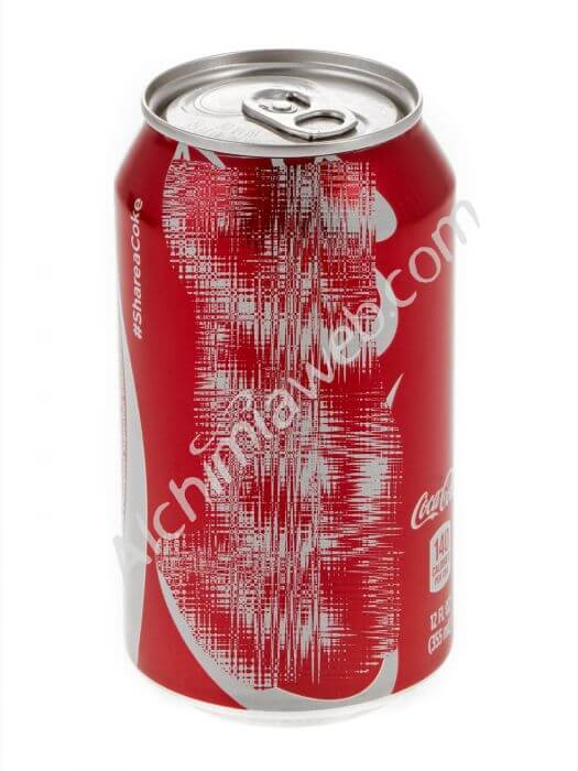 Red Cola can with compartment