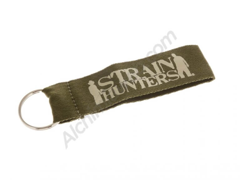 Strain Hunters promotional large fabric key ring