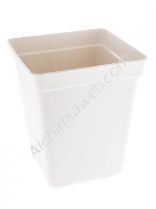 Square white pot - 11L