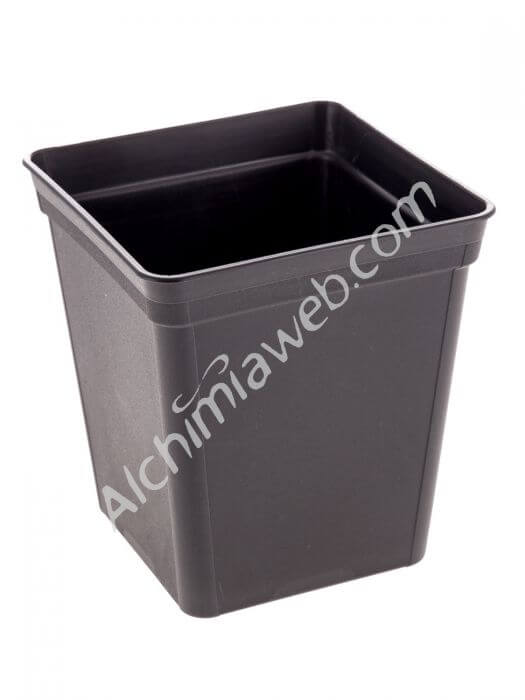 Square black Pot - 13x13x14cm - 1.65l
