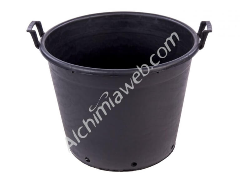 Black round container with handles - 110L