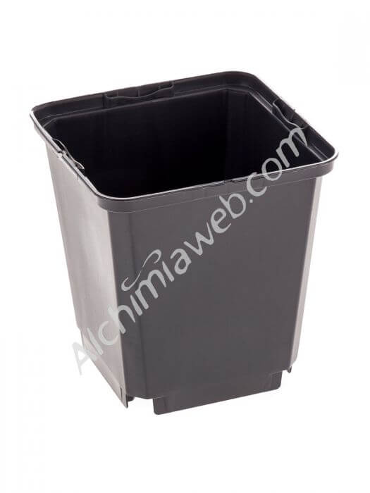 Square black plant pot - 9 x 9 x 8 cm - 0.52 L