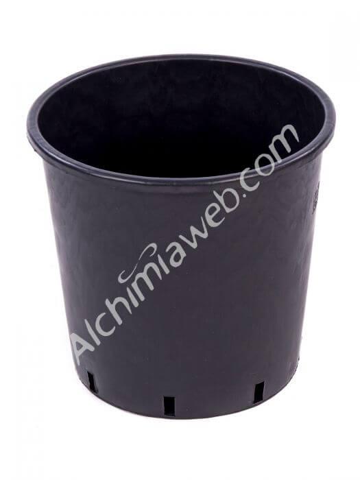 Vente de pot noir rond 25 l - Pot de fleur noir ...