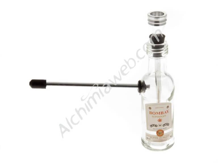 Pipa Agua vidrio botella Bombay