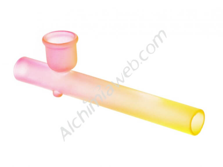 Glass Pipe - Colours - Cylinder 15 cm approx.