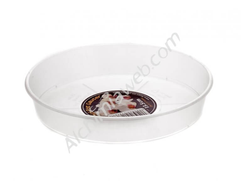 Clear Orchid Pot Saucer transparent dish