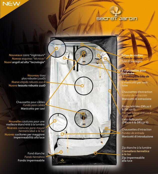 vente d 39 armoire de culture secret jardin dark room ii 150x150x200 cm. Black Bedroom Furniture Sets. Home Design Ideas