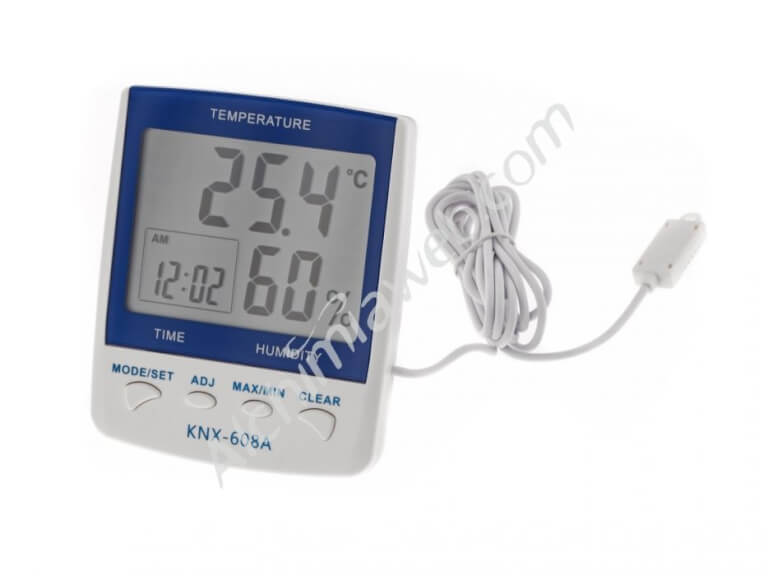 Thermohygrometer with probe Temp/Hum. + Clock + Alarm